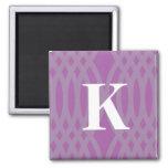 Ornate Woven Monogram - Letter K Fridge Magnet