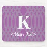 Ornate Woven Monogram - Letter K Mouse Pad