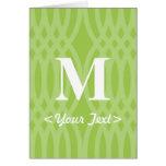 Ornate Woven Monogram - Letter M Cards