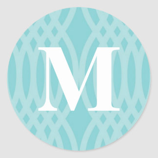 Ornate Woven Monogram - Letter M Classic Round Sticker
