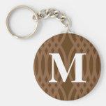 Ornate Woven Monogram - Letter M Keychains