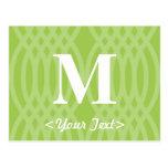 Ornate Woven Monogram - Letter M Postcard