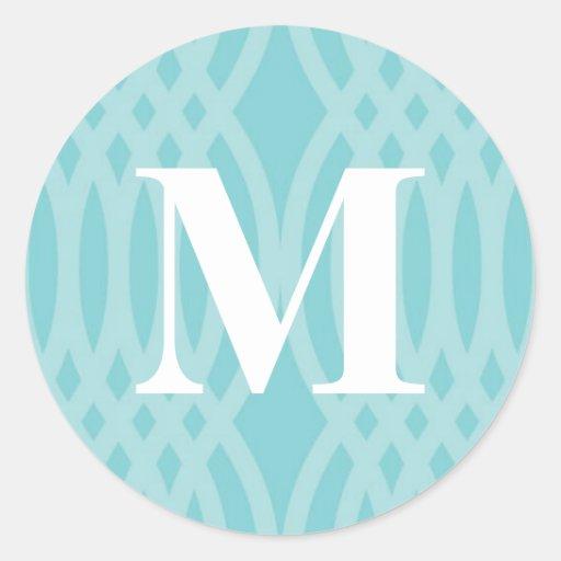 Ornate Woven Monogram - Letter M Stickers