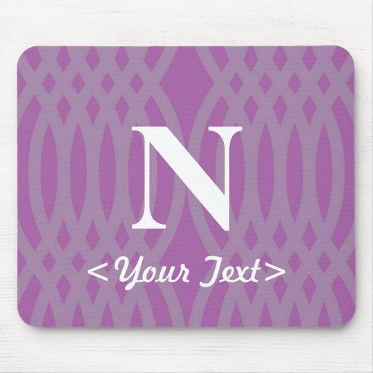 Ornate Woven Monogram - Letter N Mouse Pad