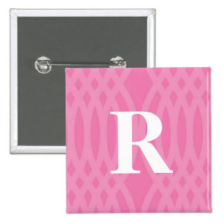 Ornate Woven Monogram - Letter R Button