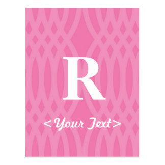 Ornate Woven Monogram - Letter R Postcard