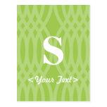 Ornate Woven Monogram - Letter S Post Card