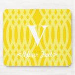 Ornate Woven Monogram - Letter V Mouse Mat