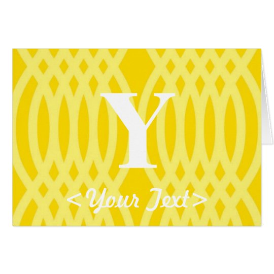 Ornate Woven Monogram - Letter Y Card