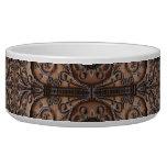 Ornate Wrought Iron Door Dog Food Bowl