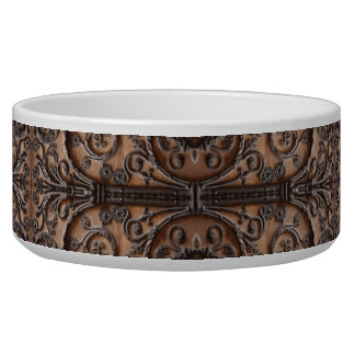 Ornate Wrought Iron Door Pet Food Bowl