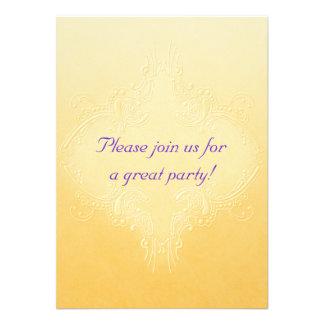 Ornate Yellow Invitation