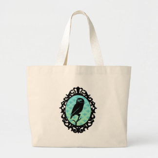 Ornated Framed Owl Tote Bags