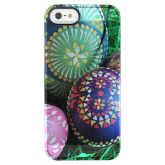 Ornated pintó los huevos de Pascua Funda Clearly™ Deflector Para iPhone 5 De Uncommon