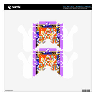 Ornately Lilac framed Iris Garden by sharles Skins For PS3 Controllers