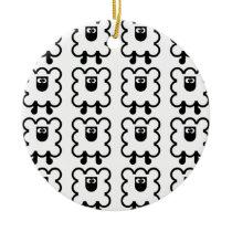Ornement rond en céramique SHEEP Ceramic Ornament