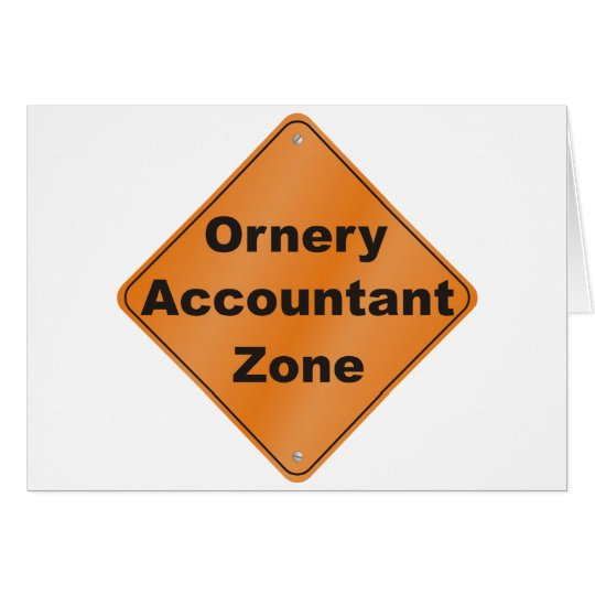 Ornery Accountant Card