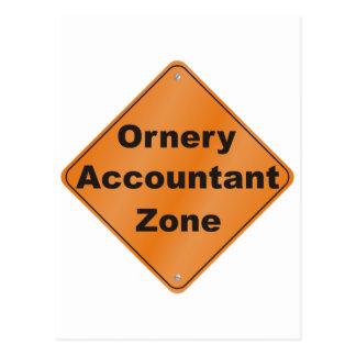Ornery Accountant Postcard