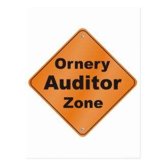 Ornery Auditor Postcard