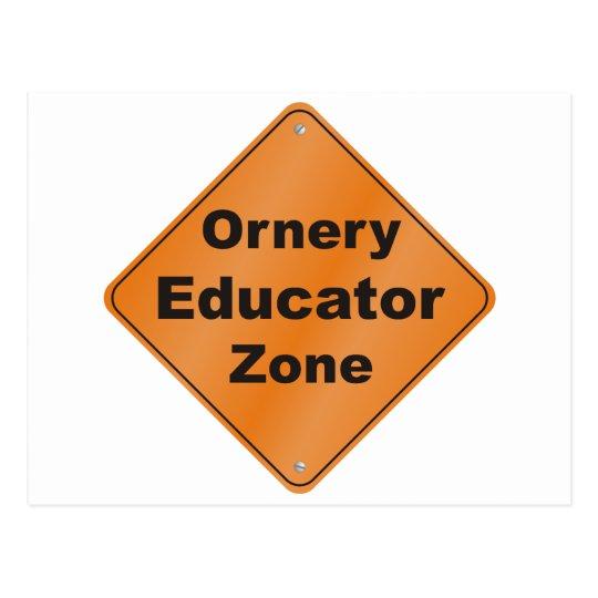 Ornery Educator Postcard