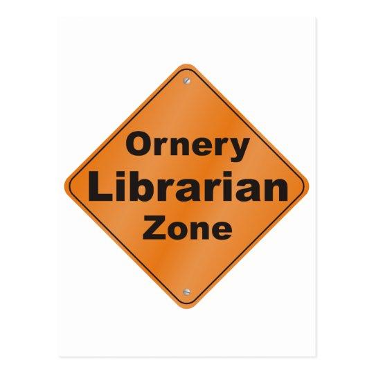 Ornery Librarian Postcard