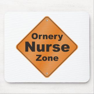 Ornery Nurse Zone Mouse Pad