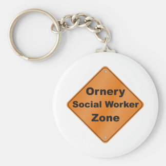 Ornery Social Worker Keychains