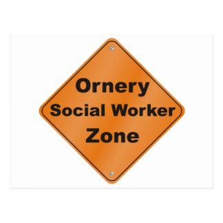 Ornery Social Worker Postcard