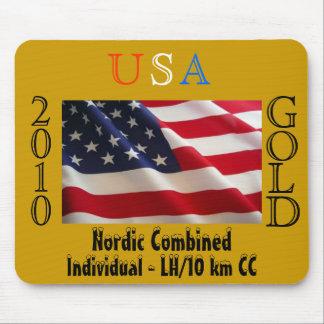 Oro 2010 de los E.E.U.U. (nórdicos combinados) Mousepads