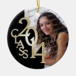 Oro 2014 de la foto de la graduación de la clase adornos de navidad