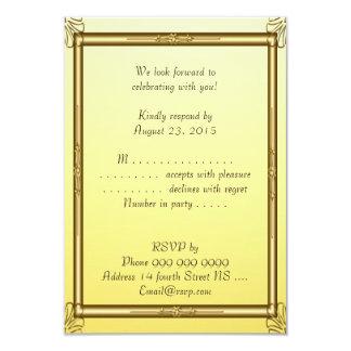 Oro 2 de la invitación de Mitzvah de la barra de