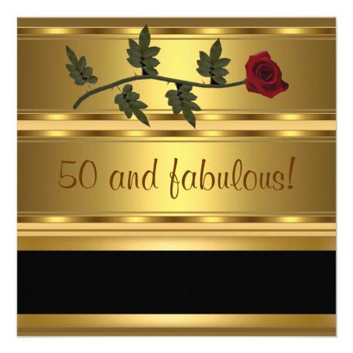 Oro 50 y fiesta de cumpleaños fabulosa comunicado
