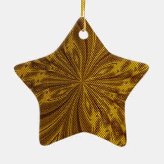 Oro abstracto de la mariposa adorno de cerámica en forma de estrella
