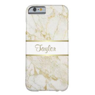 Oro adaptable y caja de mármol blanca del iPhone 6 Funda De iPhone 6 Barely There