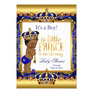 """Oro adornado azul del príncipe fiesta de invitación 5"""" x 7"""""""
