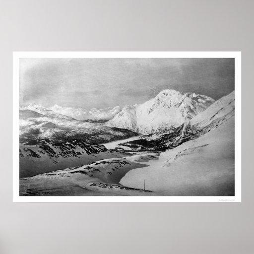 Oro Alaska 1899 de la cumbre de Valdez Póster