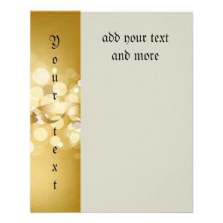 oro, amarillo, brillo, bokeh, orbes, círculo, folleto 11,4 x 14,2 cm