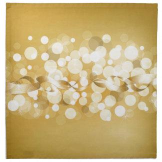 oro, amarillo, brillo, bokeh, orbes, círculo, servilleta de papel