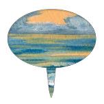 Oro amarillo del mar cósmico y océano azul de la p figura de tarta