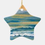 Oro amarillo del mar cósmico y océano azul de la p ornamentos para reyes magos
