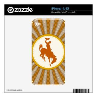 Oro amarillo del rodeo del vaquero iPhone 4 skins