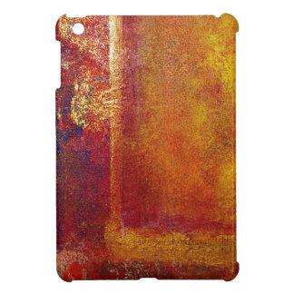 Oro amarillo del rojo anaranjado de los campos de  iPad mini cárcasa