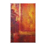 Oro amarillo del rojo anaranjado de los campos de  lona estirada galerias