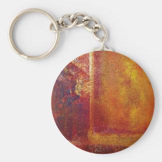 Oro amarillo del rojo anaranjado de los campos de  llavero personalizado