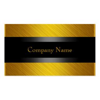 Oro amarillo elegante con negro tarjeta de visita