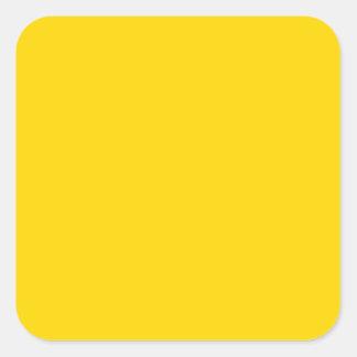 Oro amarillo elegante - tendencias del color de la pegatina cuadrada