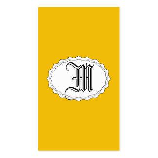 Oro amarillo tarjetas de visita