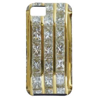 Oro amarillo y caso del iPhone 5 del arte del diam iPhone 5 Coberturas