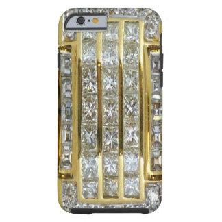 Oro amarillo y caso del iPhone 6 del arte del Funda De iPhone 6 Tough