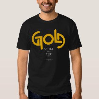 Oro Ambigram del hallazgo Playera